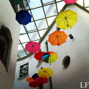 Umbrellas in REÖK Palace