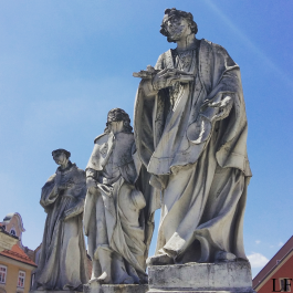 Statues on the Plague Column Main Square, Maribor