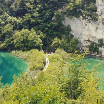 Plitvice Lakes from above