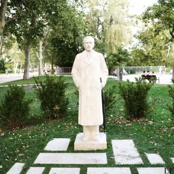 Statue of Sándor Pethő in Balatonfüred