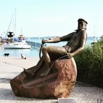 Statue of István Bujtor in Balatonfüred