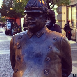 Policeman statue in Budapest