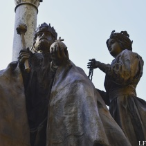 Statue of St. Stephen and Gizella in Széchenyi Square