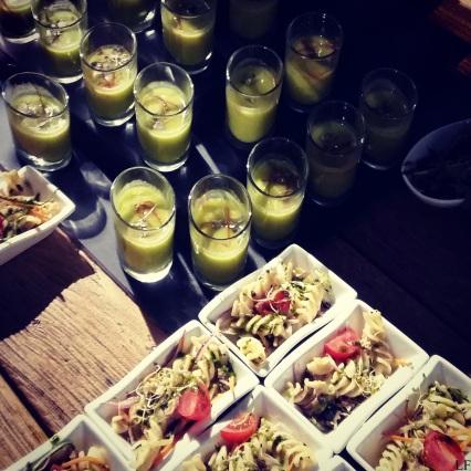 Fancy food at the Daalarna Fashion Show