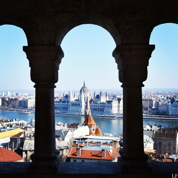 The view to the Hungarian Parliament from Fisherman's Bastion
