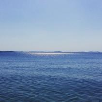 The beach in Zadar