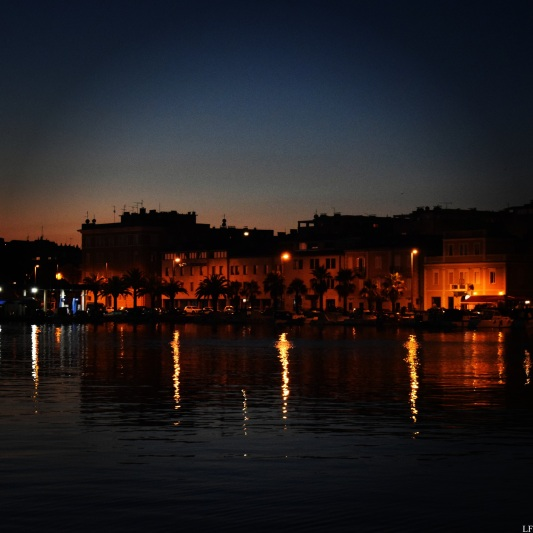 Zadar at night