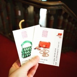 Tickets to the Museum of Bags and Purses